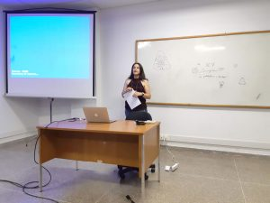 Dr. Cláudia Inês da Silva opening the Workshop
